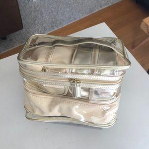 Lancôme Cosmetic Travel Organizer - Gold and Cream